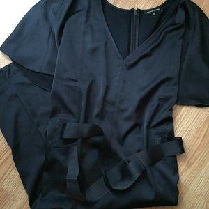 Navy Blue Half Tie Dress NWOT